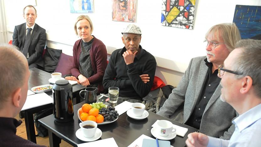 Beskæftigelses- og integrationsborgmester på besøg i Café Exit
