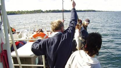 Vellykket fisketur på Øresund