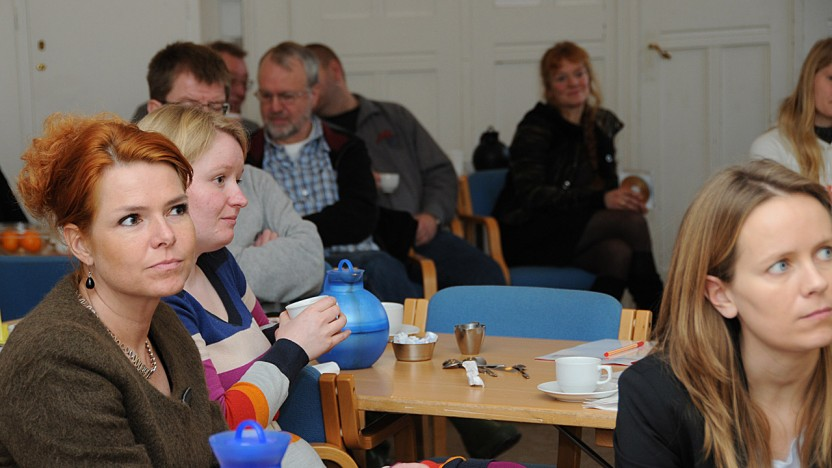 Beskæftigelsesminister Inger Støjberg til workshop i Café Exit