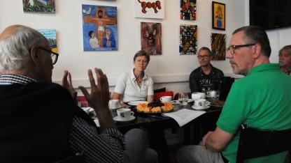 Alternativets gruppeforkvinde besøgte Café Exit