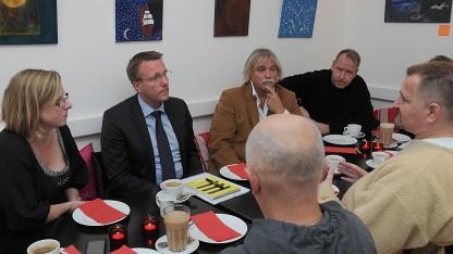 Justitsminister Morten Bødskov på besøg i Exit