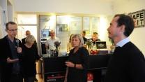 Mange var med til at byde Peter Dexters velkommen som Café Exits nye organisationschef