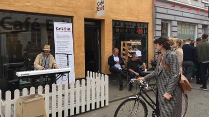 Café Exit i Aarhus holdt åbent hus under Vestergadefesten